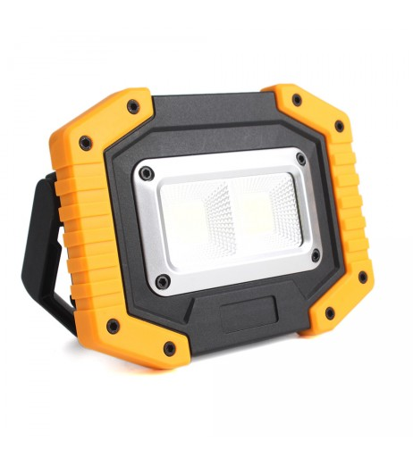 30W LED Work Light Cordless Floodlight COB Emergency Security Lights With USB Port Use For Garage Camping Fishing