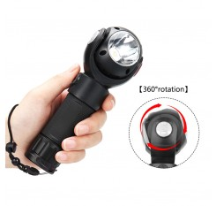360 Degrees Rotating Head Flashlight Aluminum Alloy T6 COB LED USB Charging Torch with Tail Magnet Multi-function Long Shots