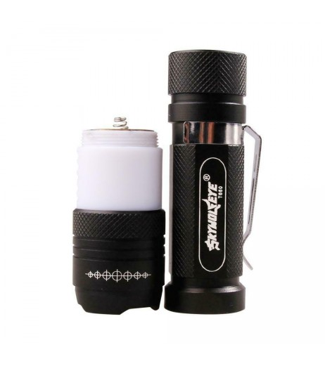 5000LM Camping Flashlight CREE T6 Rotary Zoom Focusing LED USB Rechargeable Torch Wihte Red Light
