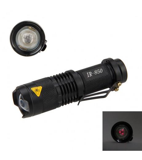 850nm IR Lamp 5W Zoom Infrared Light Flashlight Hunting Torch Lamp Night Vision
