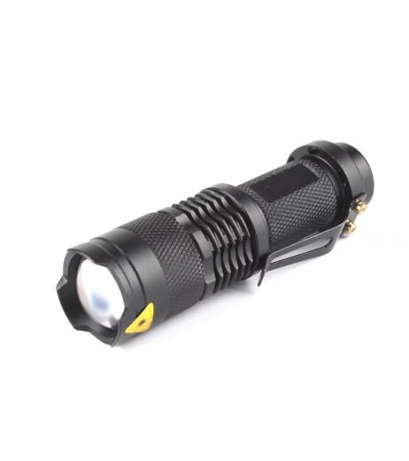 High quality Hard light lantern Torch light mini LED Flashlight Zoomable Penlight