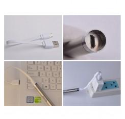 Portable USB Rechargeable LED Flashlights Waterproof Torch Aluminium Alloy Lamp