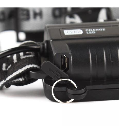 50000 Lumen 5x XM-L T6 LED Rechargeable USB Headlamp Headlight Flashlight Torch