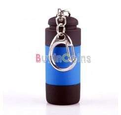 New Mini Keychain Pocket Torch USB Rechargeable LED Light Flashlight Lamp