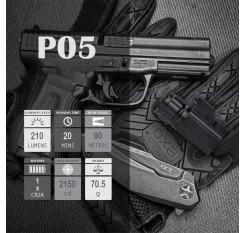Trustfire P05 Pistol Light Waterproof Compact Tactical Glock Flashlight CREE XP-G R5 LED 210 Lumen Handheld Torch Quick Attach Mount For Glock 17 19 21 22 30 43 48