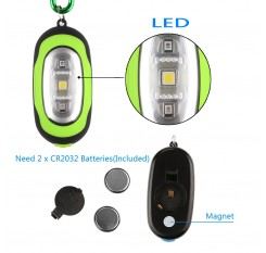 Pocket Magnetic Flashlight – Small Keychain Super-Bright Led Flashlight, Most Powerful Strobe Flashlight with Carabiner