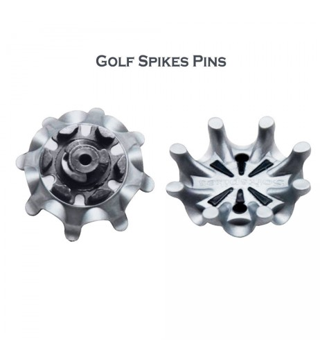 Golf Shoe Spikes Middle with Hole Fast Spiral Golf Shoe Nails Replacement Portable Shoe Nails