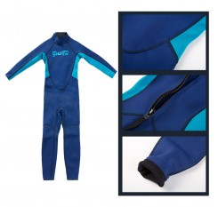 Kids Wetsuit Snorkeling Neoprene 2.5mm Thick Long Sleeve UV Protection Protection Diving Suit For Girls Boys
