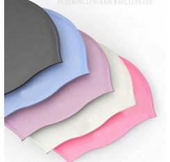 Silicone Solid Waterproof Swim Cap For Men Women UV Protection Flexible Elasticity Hat For Unisex Adult Swimmer