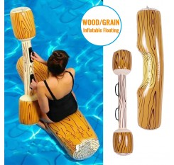 Family Toddler Fun Water Battle Wood Grain Inflatable Floating Recreation Water Toys Pool Adults Party Floating Tube Game