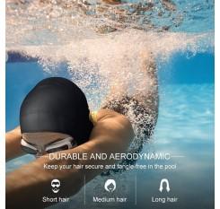 Adults Silicone Swim Cap Swimming Bathing Hat Waterproof Ear Pockets