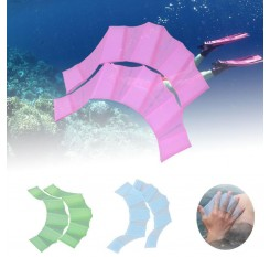 1 Pair Silicone Swim Webbed Gloves Training Diving Gloves Swimming Equipment for Women Men Kids