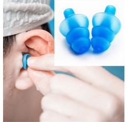 1 Pair Waterproof Silicone Ear Plugs Anti Noise Snore Earplugs Comfortable For Swimming Sleep