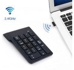 2.4G Wireless USB Numeric Keypad Mini Numpad 18 Keys Digital Keyboard for iMac/MacBook Air/Pro Laptop PC Notebook Desktop