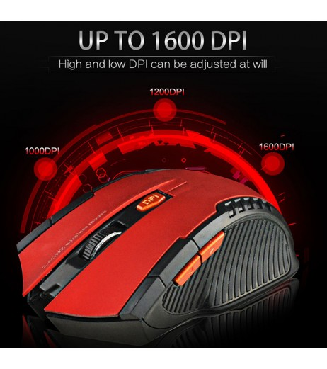 2.4Ghz Mini USB Portable Grip Wireless Optical Gaming Mouse For PC Laptop