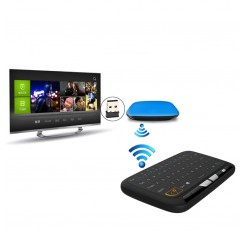 H18 Mini Wireless Keyboard Full Screen Large Touchpad Air Mouse For Windows & Android System