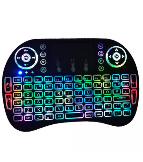 Backlight 2.4G LED Mini Wireless Keyboard Air Mouse Touchpad For Smart TV Box Xbox360 PC