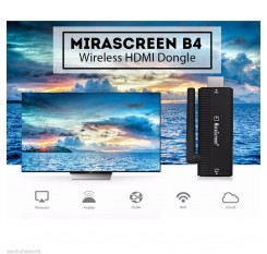 Full HD 1080P Wireless MiraScreen HDMI Dongle Receiver 2.4G Media TV Stick Miracast DLNA Airplay w/ Antenna