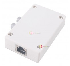 Mini Dual 2 Way Port RJ45 Network Manual Sharing Switch Switcher Box Adapter HUB