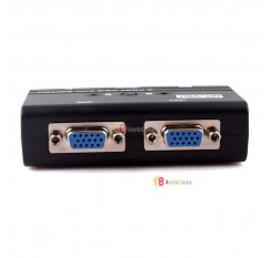 2 Port PS/2 Manual VGA KVM Switch Box For Mouse Keyboard Monitor Computer