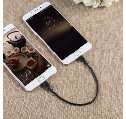 30cm/1Ft  MicroUSB Male to Male Adapter OTG Data Sync Cable Cord for Android Phone Tablet