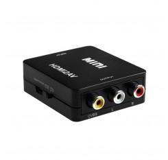 HDMI to AV Converter HDMI to RCA Plastic Box Video Converter Support 1080P