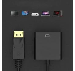 DisplayPort Para DVI Adaptador Mini Display Port DP Thunderbolt Conversor