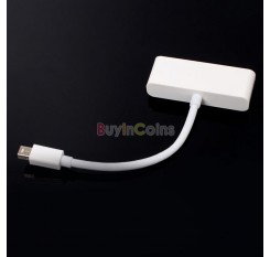 New Mini Display Port DP to HDMI VGA Adapter Cable for Apple MacBook Air