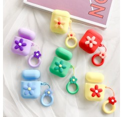 Cute Cartoon Flower Soft Silicone Case For Apple Airpods Case Wireless Bluetooth Earphone Case