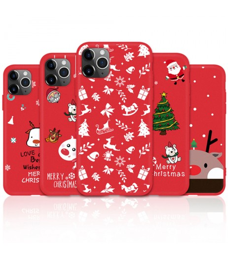 Christmas Phone Case For ihpone 11 Pro Shockproof Cover TPU Silicone Case