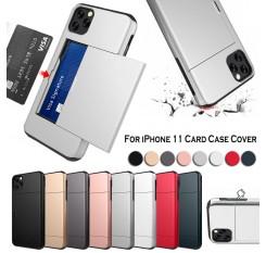For iPhone 11 Case Card Holder Slot Armor Detachable Shockproof Slim Cover