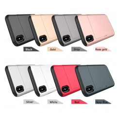 For iPhone XS Max Case Card Holder Slot Armor Detachable Shockproof Slim Cover