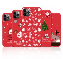 Christmas Phone Case For ihpone 11 Shockproof Cover TPU Silicone Case