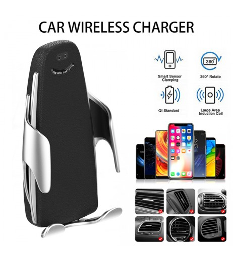 10W Wireless Car Charger Automatic Clamping Wireless Car Charger Fast Charging Mount For iPhone Samsung