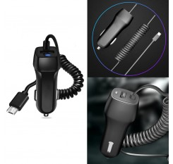 USB Car Charger For iPhone X 8 7 6s 6 plus 10 Phone Car Charger With Micro USB Type-C IOS Cable For Samsung S9 Plus Fast Charge