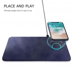 Wireless Fast Charger Mouse Pad QI Charging Mat for iPhone X 8 Samsung S9 S8 S6