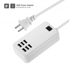 Multi Port USB Fast Charger 6-Port Adapter Travel Wall AC Power Supply US/EUPlug