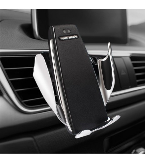 Automatic Clamping Wireless Car Charger Fast Charging Mount For iPhone Samsung