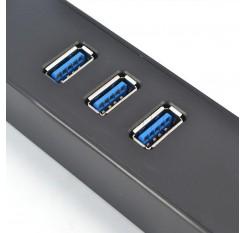 High Speed 3 Ports USB 3.0 Hub 10/100  Mbps To RJ45 Gigabit Ethernet LAN Wired Network Adapter Converter For Windows Mac