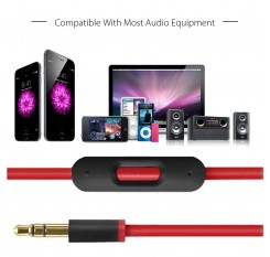 3.5Mm Replacement Audio Cable Cord Wire W/Mic For Beats By Dr Dre Headphones