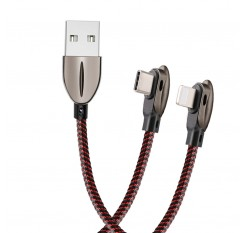 90 Angle 3A Fast Charge cable Type C Clble Lightning cable for Samsung  Xiaomi Huawei One Plus iPhone