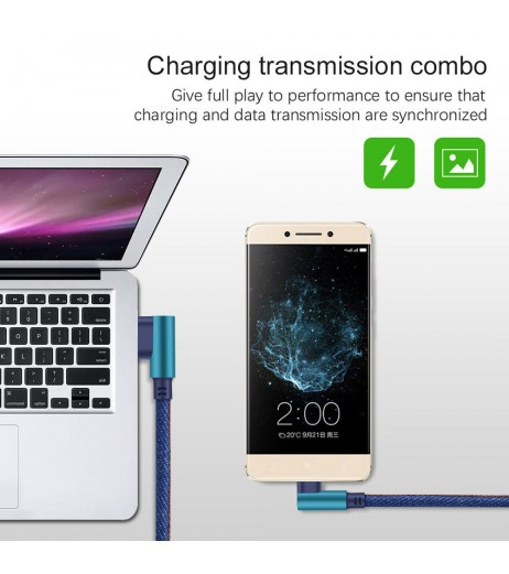 1MType C 90 Degree Right Angle USB C 3.1 Fast Data Sync Charging Charger Cable Hot