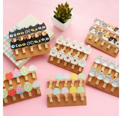 10PCS Cute Fruits  Wooden Clip Photo Paper Craft Diy Clips With Hemp Rope