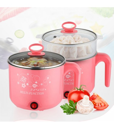 1.8L Multifunction Stainless Steel Mini Electric Cooker Steamer Cook Pots