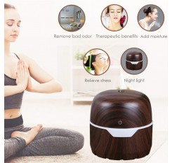 300ml Vogue LED Home Aroma Humidifier Air Diffuser Purifier Atomizer