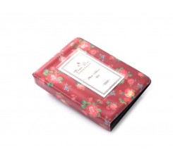 Retro Rose Photo Album for Fujifilm Instax Mini Films - Burgundy