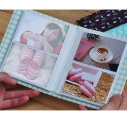 Cow Pattern Mini Book Photo Album for Fujifilm Instax Mini Films