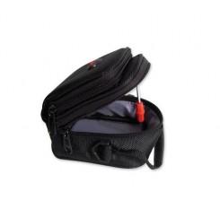 Simple Nylon Shoulder Bag - Black