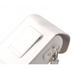 Simple PU Leather Shoulder Bag for Mirrorless Camera - White