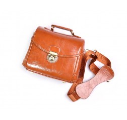 Classic DSLR Leather Shoulder Bag with Detatchable Strap - Light Brown